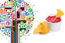 Social network tree & tortilla chips