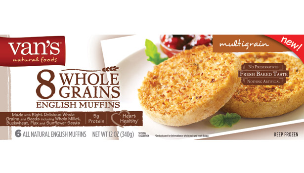Van's whole grain English muffins