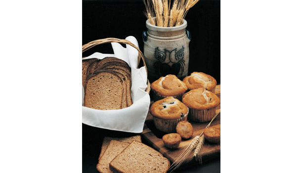 Baked goods: muffins, bread