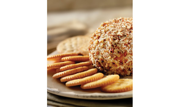 Crackers and cheese ball