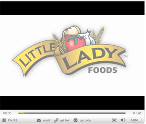 Little Lady Foods video logo