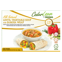 CedarLEAN Lentil Soup and Samosa Wrap