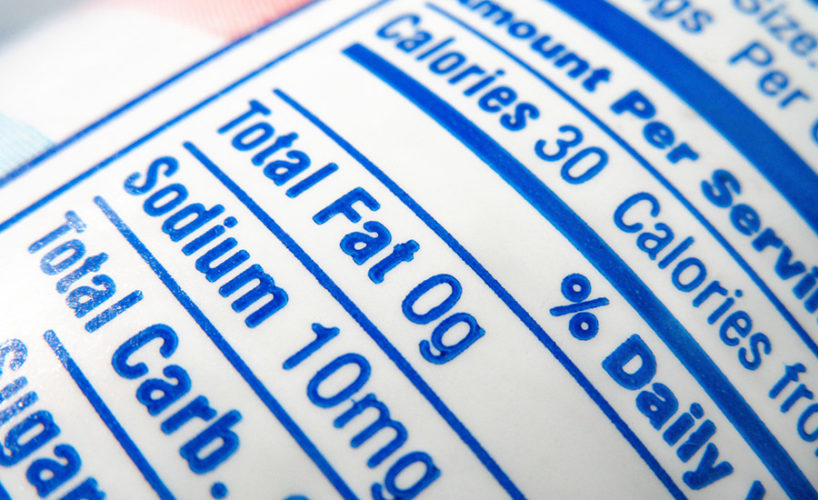 food label nutrition