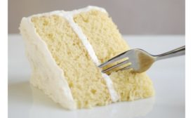 Piece of yellow layer cake