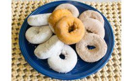 Plate of doughnuts