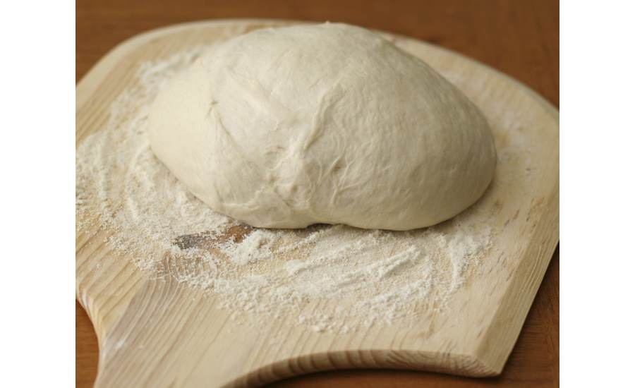 Dough on floured board