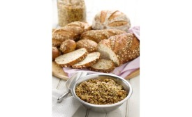 Breads and cereal made with presoaked grains
