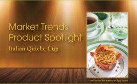 product spotlight; Italian quiche cups