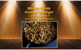 Curry Spiced Nuts with Dried Tart Cherries