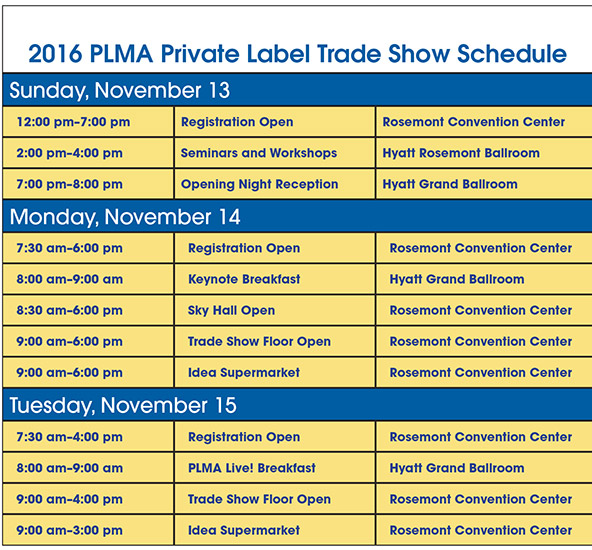 The PLMA Private Label Trade Show celebrates the business of store brands