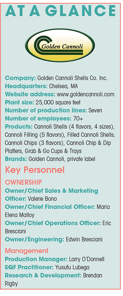 Golden Cannoli expands into new categories with innovative cannoli products