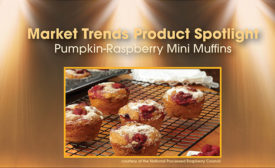Pumpkin-Raspberry Mini Muffins