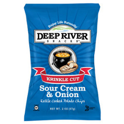 Deep River Sour Cream & Chives Krinkle Cut Chips
