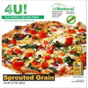 Better4U All Natural Ultra-Thin Multigrain Sprouted Grain Pizza