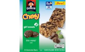 Quaker Chewy Girl Scouts Granola Bars, Thin Mints
