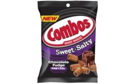 COMBOS Baked Snacks Sweet & Salty Chocolate Fudge Pretzels
