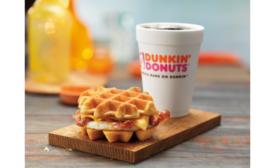 Dunkin Donuts belgian waffle sandwich
