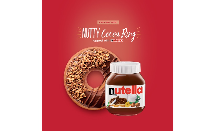 Krispy Kreme Nutty Cocoa Ring Nutella