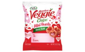 Hain Celestial Sensible Portions garden veggie chips in mini heart shapes