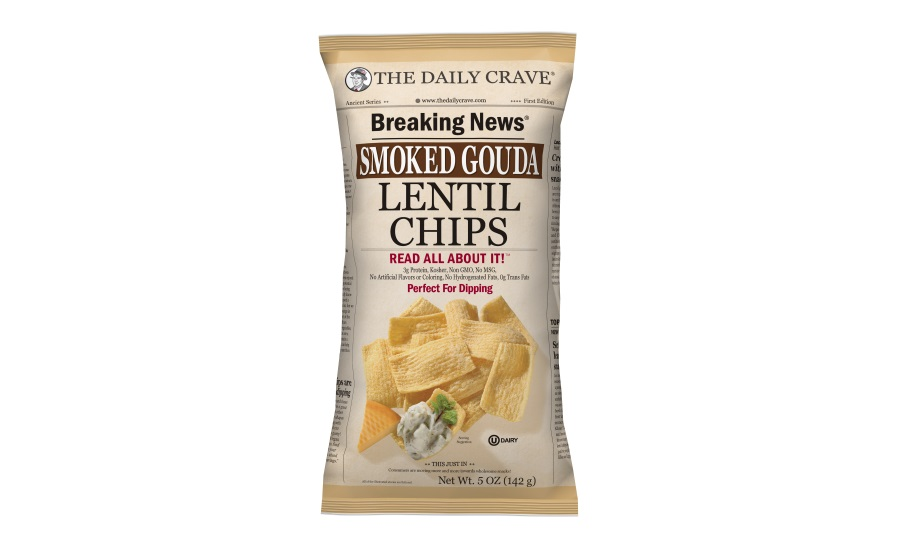 The Daily Crave smoked gouda lentil chips