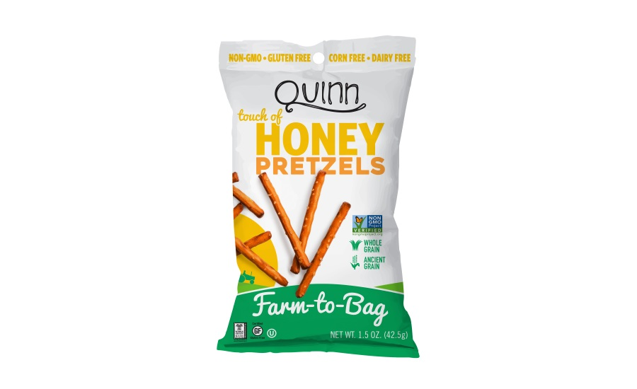 Quinn Snacks mini bags of pretzels
