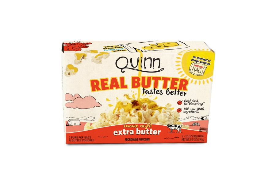 Quinn Snacks Real Butter Tastes Better microwave popcorn