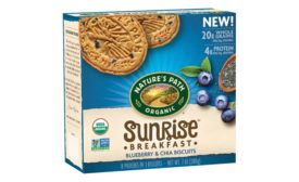 Natures Path blueberry chia breakfast biscuits