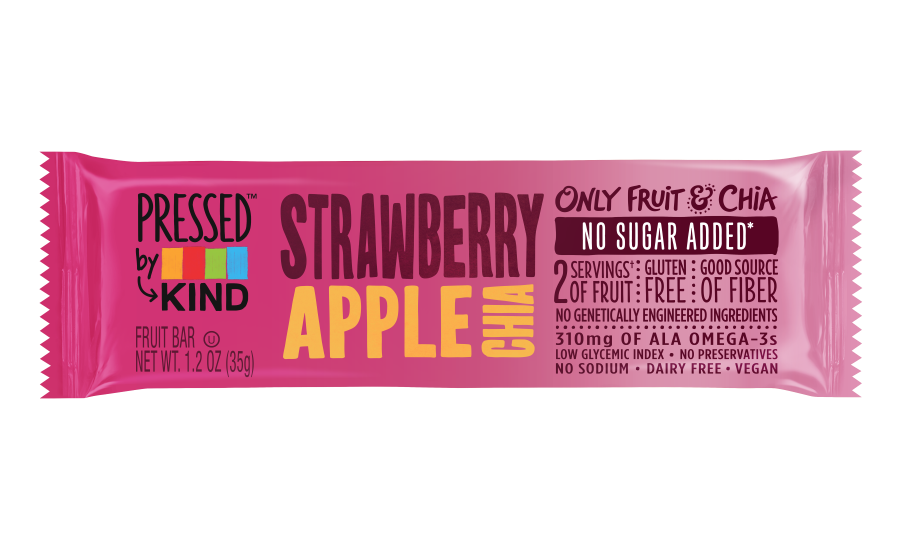 Pressed by KIND Strawberry Apple Chia bar