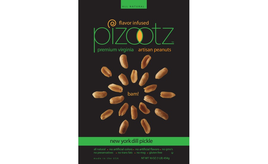 Pizootz New York dill flavored peanuts