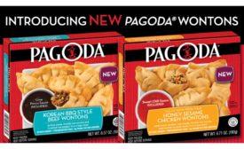 Pagoda frozen wontons, new flavors