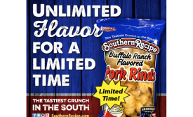 Southern Recipe buffalo ranch flavored pork rinds