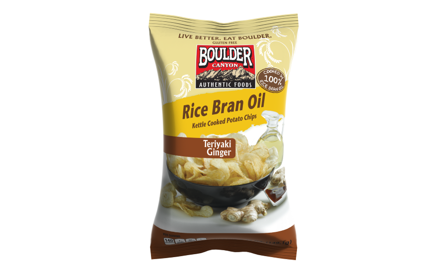 Boulder Canyon rice bran oil kettle potato chips