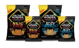 On the Border tortilla chips, flavored