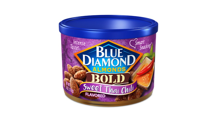 Blue Diamond sweet Thai chili snack almonds