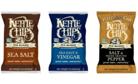 Kettle Brand 35th birthday throwback chip bags