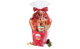 Popcornopolis Red Snowflake Gift Basket popcorn