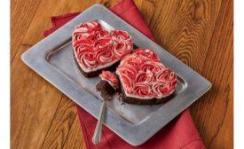 Harry & David chocolate rose heart cake