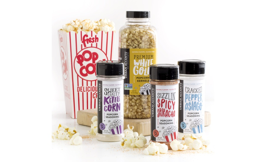 Urban Accents popcorn kernels and seasonings