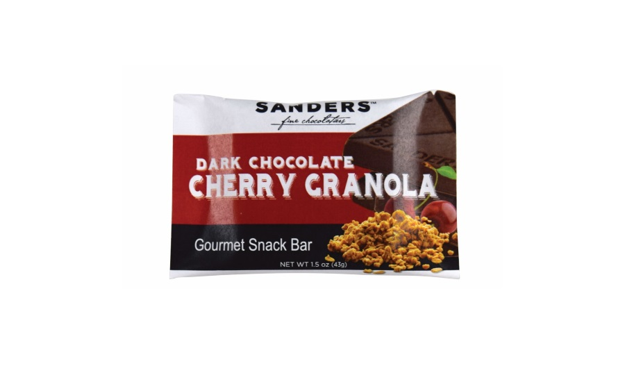 Sanders Dark Chocolate Cherry Granola snack bar