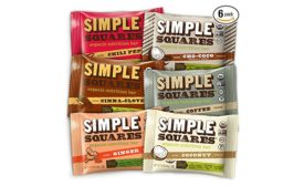 Simple Squares nut-protein bars