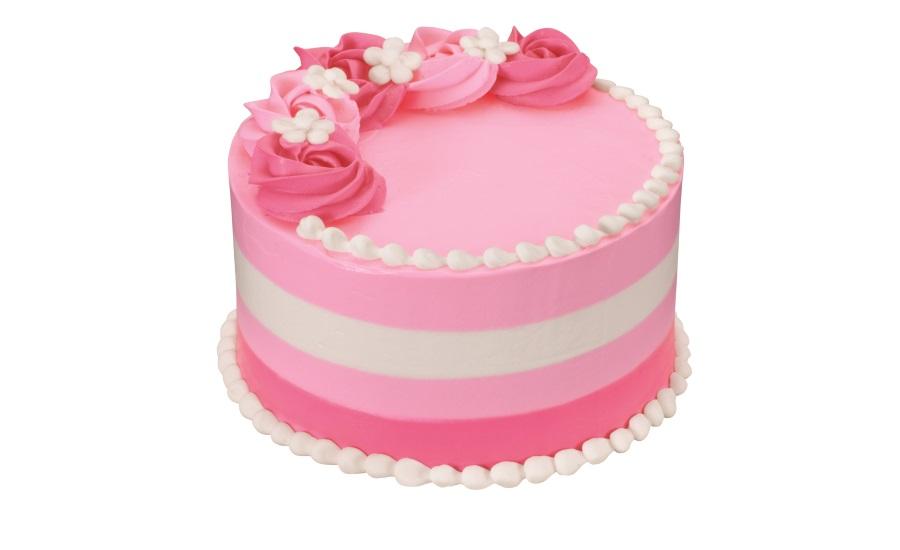 Baskin Robbins Floral Stripe Cake