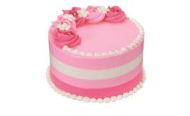 Baskin-Robbins Floral Stripe Cake