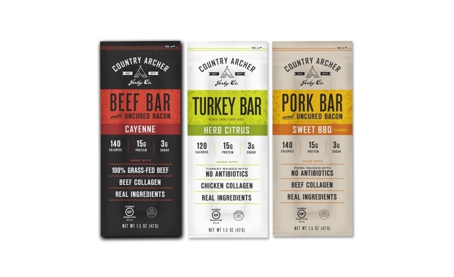 Country Archer meat bars with collagen