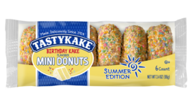 Tastykake birthday kake mini donuts