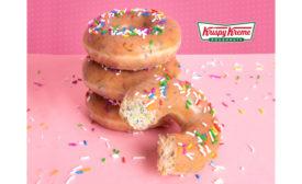 Krispy Kreme glazed confetti doughnut