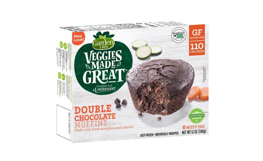 Garden Lites double chocolate muffins new packaging