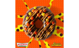 Krispy Kreme Reeses doughnut