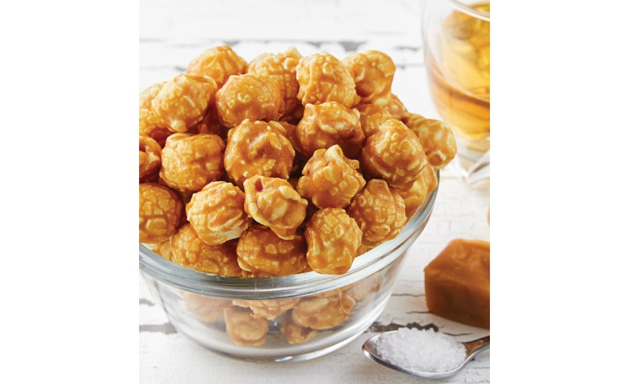 The Popcorn Factory salted caramel bourbon flavor