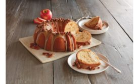 Wolfermans apple bundt cake with maple cheesecake filling
