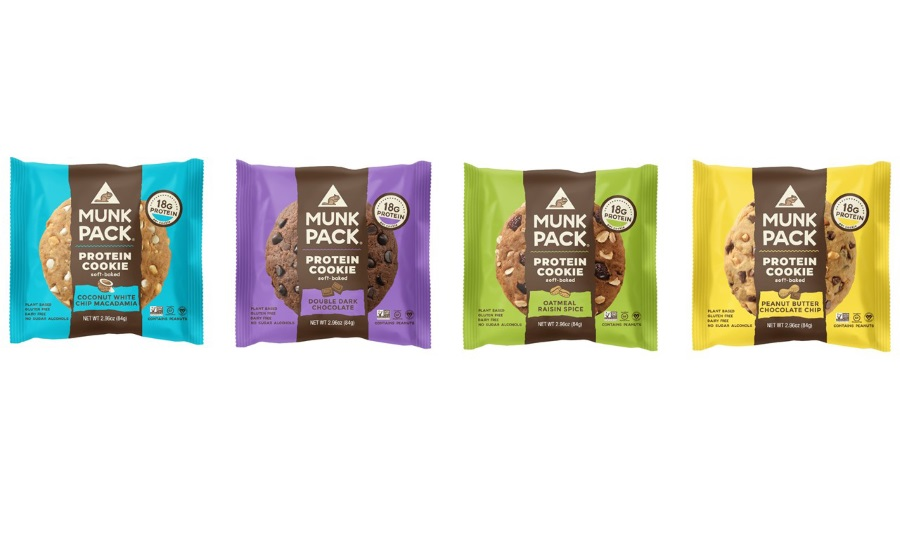 Munk Pack protein cookie new packaging